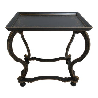 Royal Doulton Adams Paint Decorated Carved Lamp Table For Sale