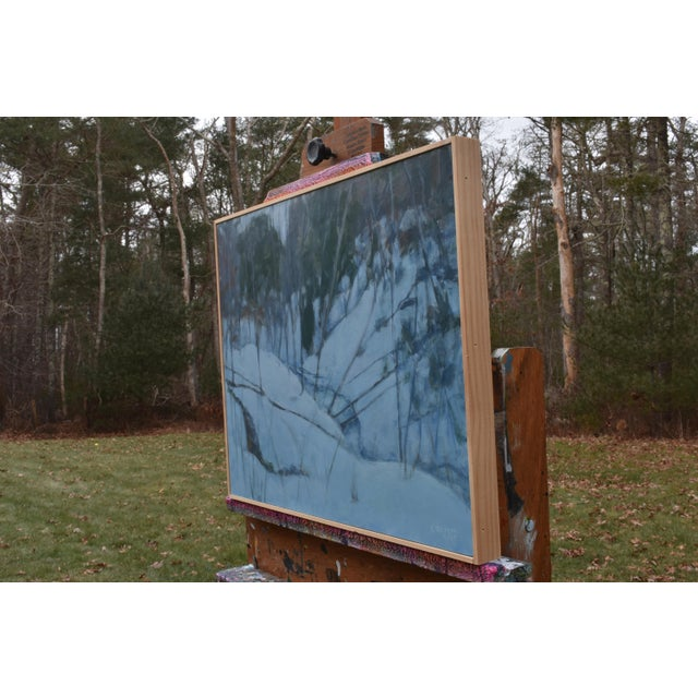 """Black Stephen Remick """"Dusk in Winter by the Brook"""" Painting For Sale - Image 8 of 9"""