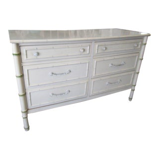 Thomasville Faux Bamboo Double Dresser