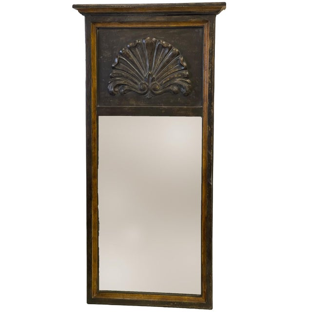 Hand Painted, mirrored antique, good condition, color: soft green