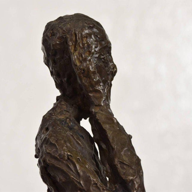 "Bronze Sculpture ""The Scream"" Edvard Munch Midcentury For Sale - Image 9 of 10"