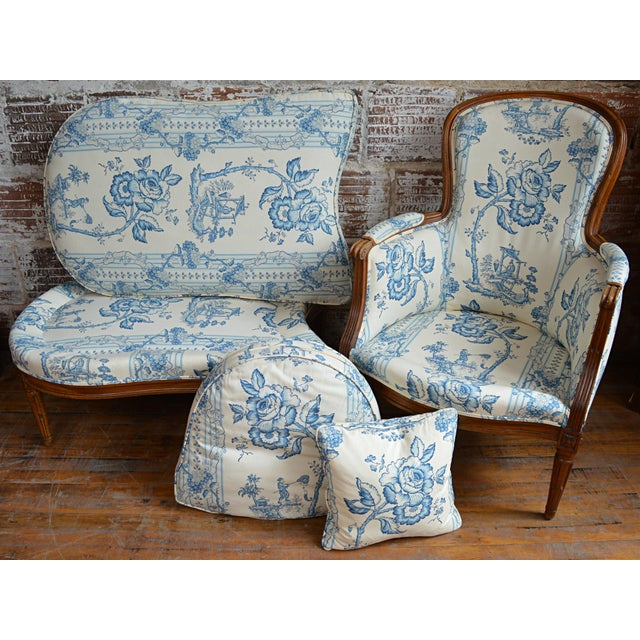 Blue Late 18th Century French Provincial Duchesse Brisée For Sale - Image 8 of 11