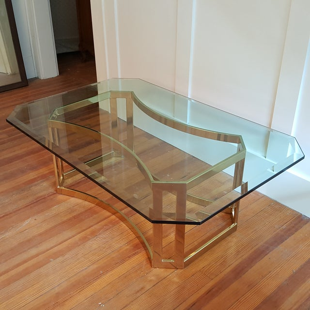 Milo Baughman Style Coffee Table - Image 4 of 5