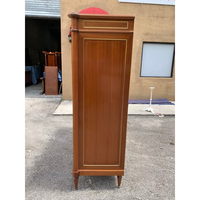 1910s French Louis XVI Antique Mahogany Armoire For Sale - Image 9 of 13
