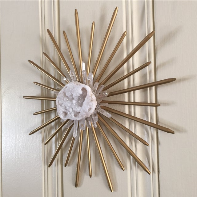 Mid-Century Natural Crystal Starburst Wall Decor - Image 9 of 9