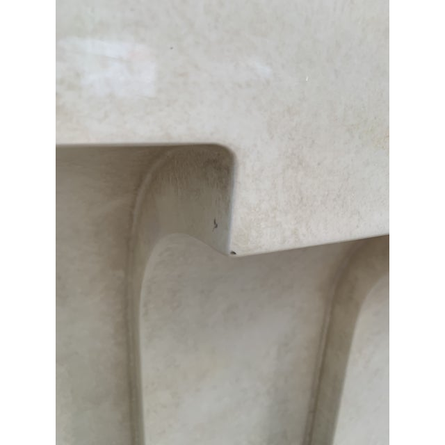 1980s Postmodern Lacquered Stepped Console For Sale - Image 5 of 12