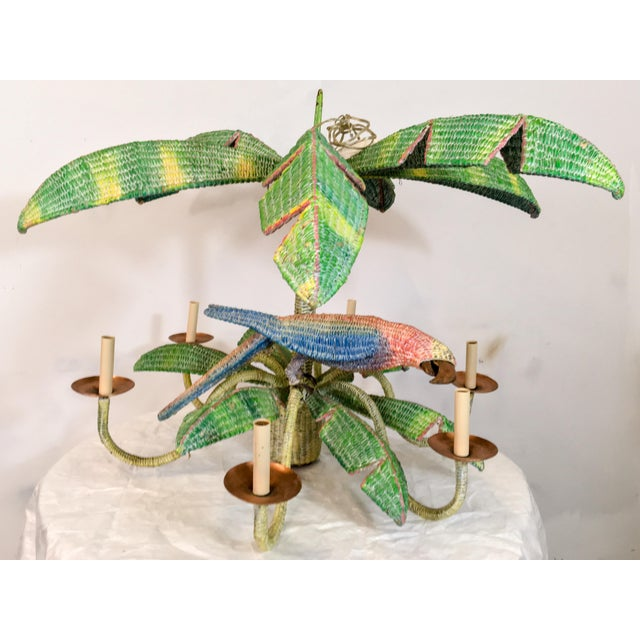 This parrot chandelier is by the Mexican artist Mario Torres. It has 6 arms and each socket supports a 40 watt bulb. The...