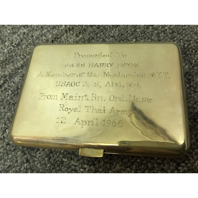 Siamese Sterling Cigarette Case For Sale - Image 5 of 6