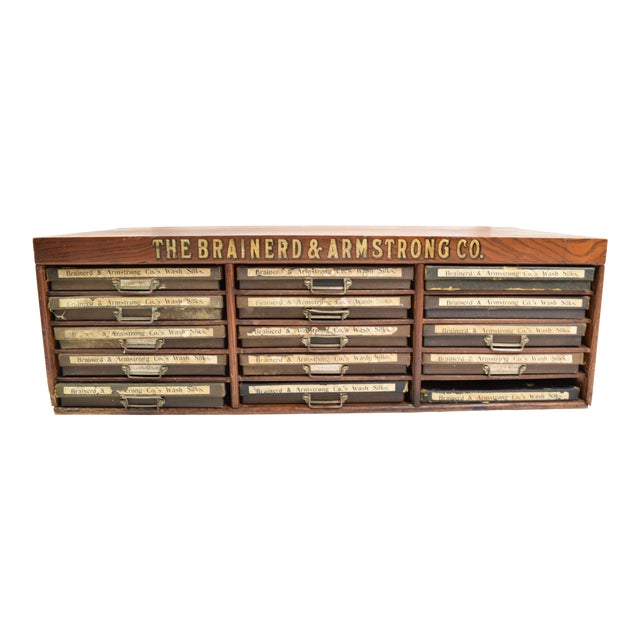 Antique Brainerd&Armstrong Co Filing Cabinet For Sale
