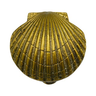 1970s Italian Brass Seashell Door Knocker For Sale