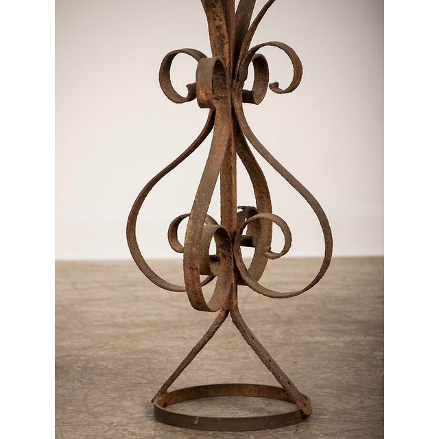 Antique Rustic French Hand-Forged Iron Finial, Normandy, circa 1880 - Image 6 of 6