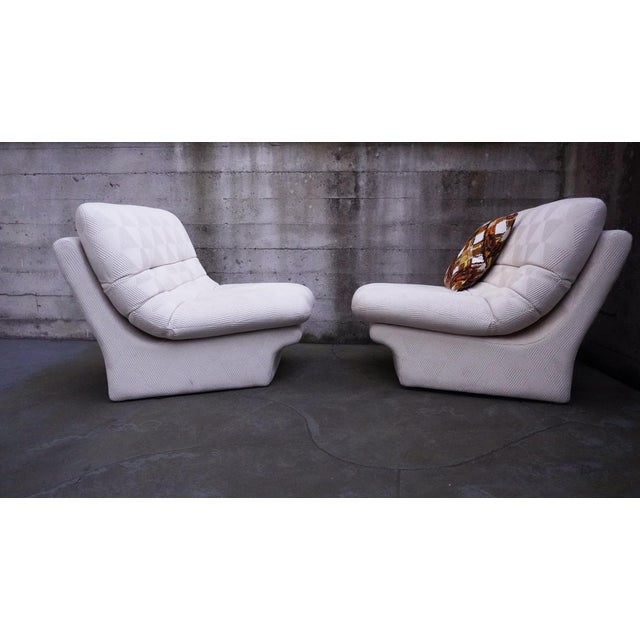 1970s 1970s Vladimir Kagan for Preview 2 Piece Modular Sectional Lounge Chairs - a Pair For Sale - Image 5 of 11
