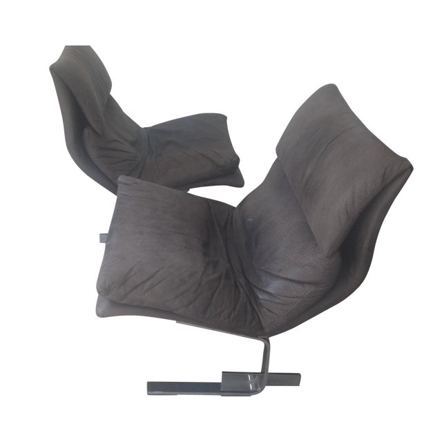 "Saporiti ""Onda (Wave) Lounge Chairs"" - Pair - Image 1 of 8"