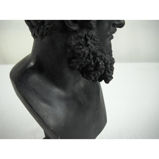 Classical Cast Metal Greek Bust - Image 8 of 8