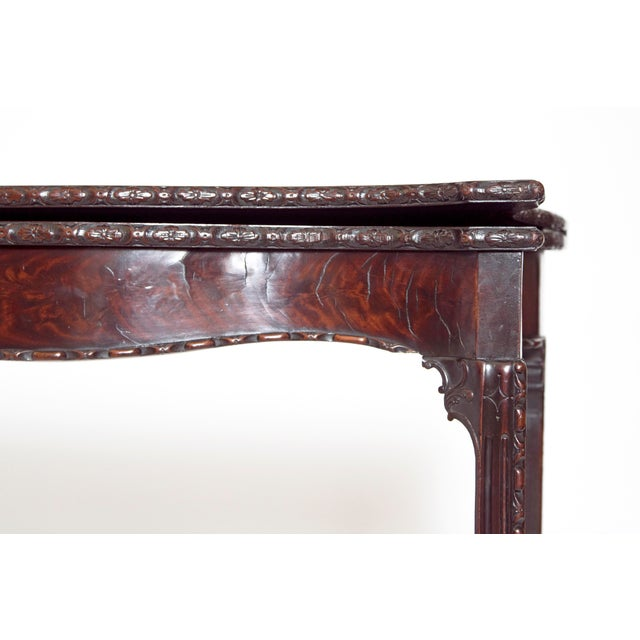 Felt Pair of 18th Century George III Mahogany Card Tables For Sale - Image 7 of 13