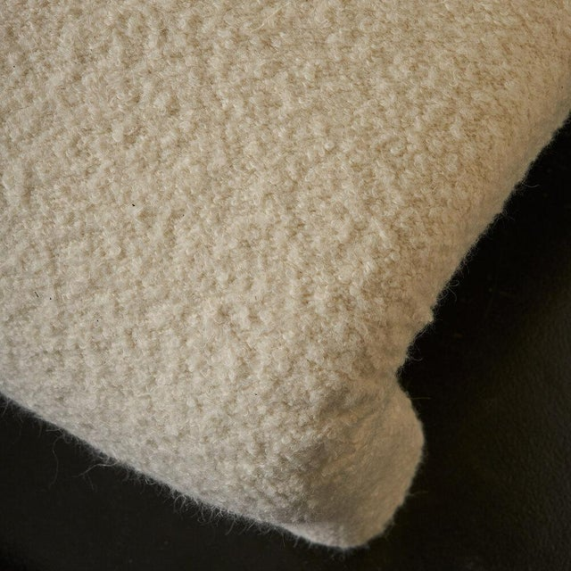Pair of Curvy Sculptural Lounge Chairs in Ivory Boucle For Sale - Image 10 of 11