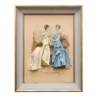 19th Century French Fashion Diorama/La Mode Francaise Illustration For Sale
