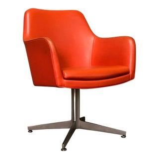 Orange Mid-Century Modern Desk / Office Chair - By Good Form