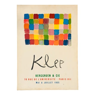 1955 French Klee Exhibition Poster For Sale