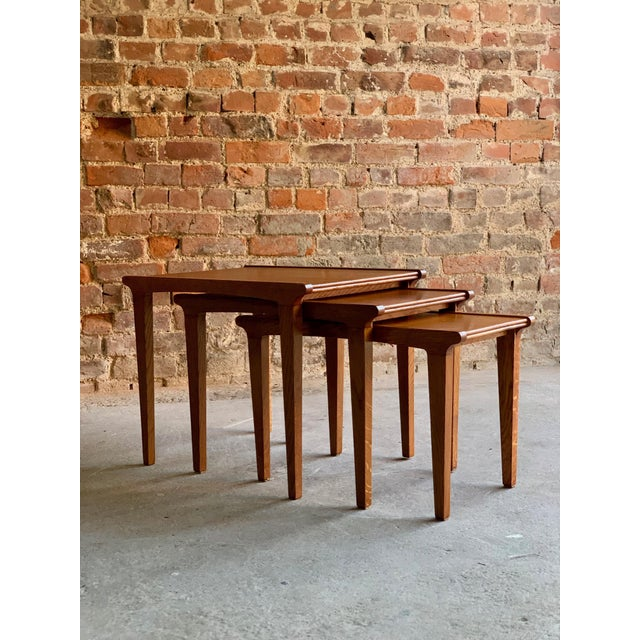 Midcentury Gordon Russell Nest of Tables Set of Three Oak, 1950s - Set of 3 For Sale - Image 4 of 13