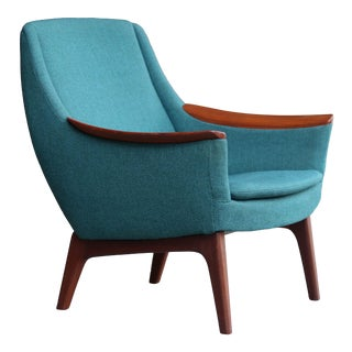 Mid Century Lh Hielle Norwegian Lounge Chair For Sale