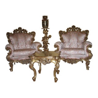 1990s Vintage Silik Italian Rococo Style Furniture For Sale