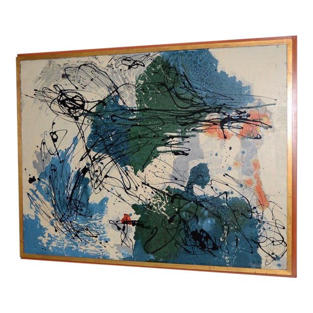 Abstract Expressionist Oil Painting by Van Winkle C.1950s For Sale