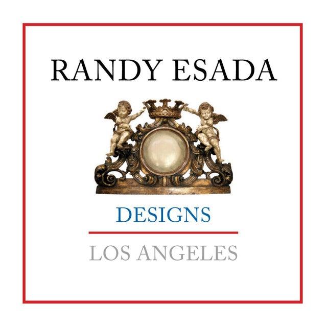 Randy Esada Designs for Prospr Carved Italian Walnut & Wrought Iron Sorrento Side Table by Randy Esada For Sale - Image 4 of 5
