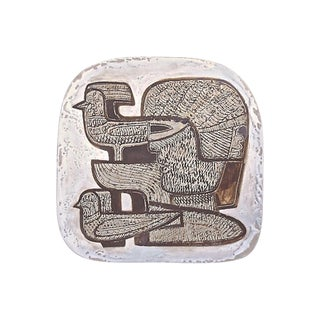 1960s Mid-Century Modern German Cubist Art Pottery Tray For Sale