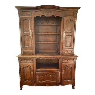 French Country China & Display Cabinet For Sale
