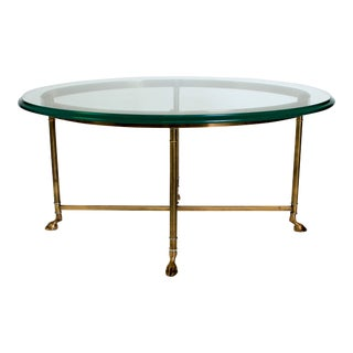 LaBarge Brass & Glass Cocktail Table For Sale