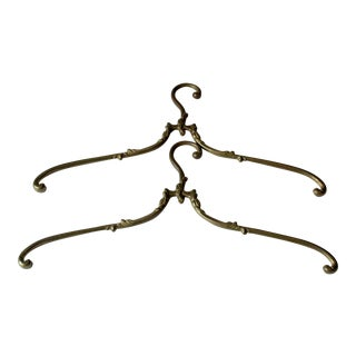 1960s Solid Brass Hangers - a Pair For Sale