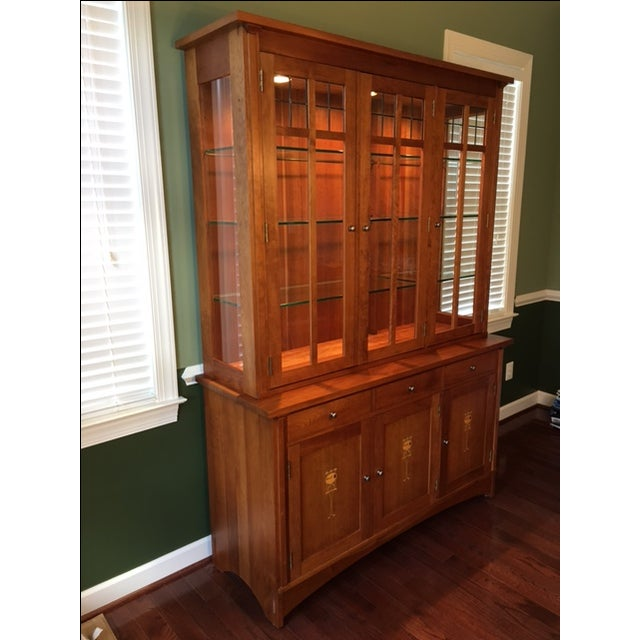 Stickley Harvey Ellis Cherry Buffet & China Hutch - Image 3 of 9