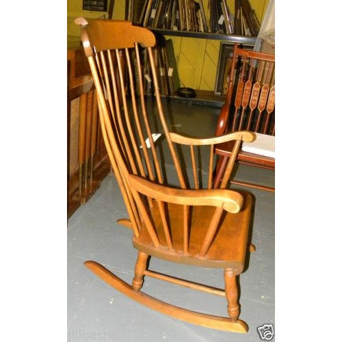 Early American Bent Brothers Antique Maple Rocker For Sale - Image 3 of 6 - Bent Brothers Antique Maple Rocker Chairish