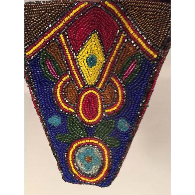 1930s HUge 1930's Art Deco Beaded Clutch Bag Oversized Pristine Condition For Sale - Image 5 of 7