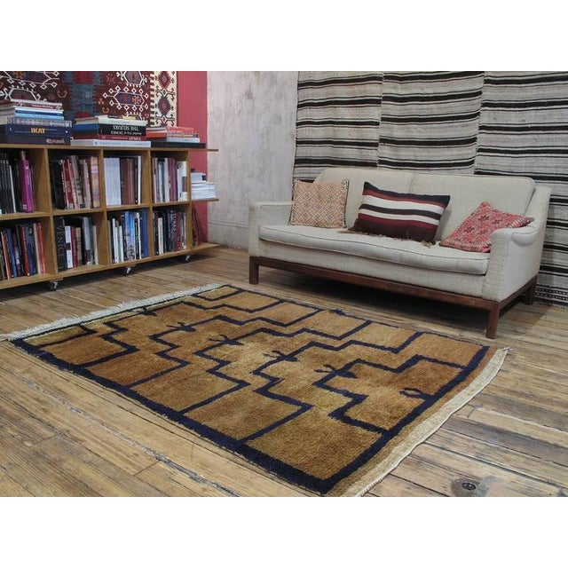 """A beautiful old village rug from Central Turkey, woven in the shaggy """"Tulu"""" style. The design, consisting of ascending..."""