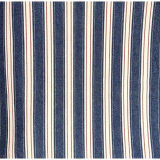 Mission Valley Mills Denim Red White Blue Stripe Cotton - 11+ Yards For Sale