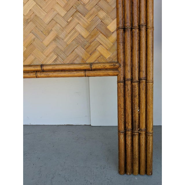 Wood Carved Faux Bamboo Twin Headboards, a Pair - Taiwan For Sale - Image 7 of 10