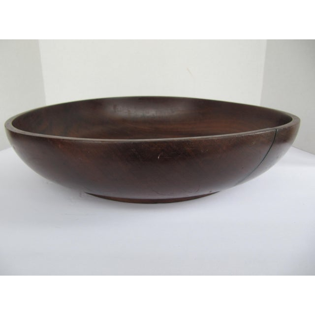 Vintage Brazilian Wood Bowl For Sale - Image 4 of 8