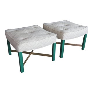 1950s Mid-Century Modern Paul Laszlo Ottomans -a Pair For Sale