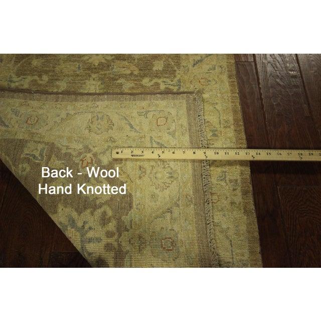 Hand Knotted Wool Mocha Chobi Runner - 3' x 10' - Image 8 of 8