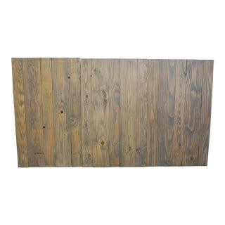Classic Gray Oil-Based Stain Queen Headboard Hanger Style