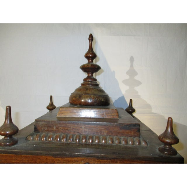 Wood Late 19th Century Vintage Indian Rosewood House Shrine Model For Sale - Image 7 of 12