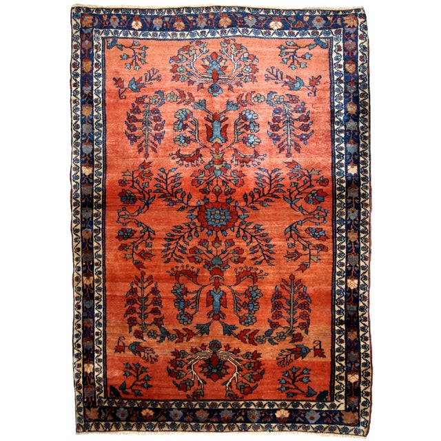 1900s Handmade Antique Persian Sarouk Rug For Sale - Image 9 of 9