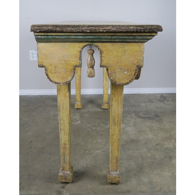 Painted Italian Console W/ Tassels For Sale - Image 4 of 11