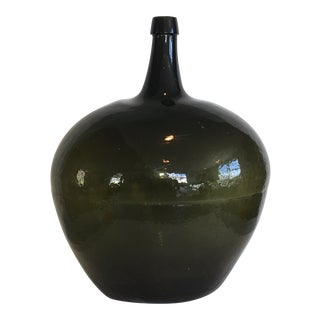 Early 19th Century Blown Glass Oval Demijohn For Sale