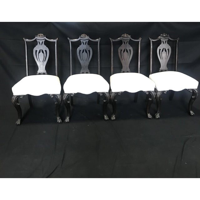 Carved 19th Century English Chippendale Style Dining Chairs -Set of 4 For Sale - Image 9 of 9