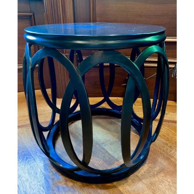 A classic Barbara Barry piece, this drum table featured a round, interwoven design. Made of hand cast brass, this table...