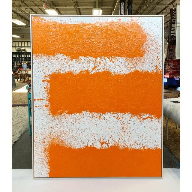 Orange John O'Hara, Tar, T2, Encaustic Painting For Sale - Image 8 of 10