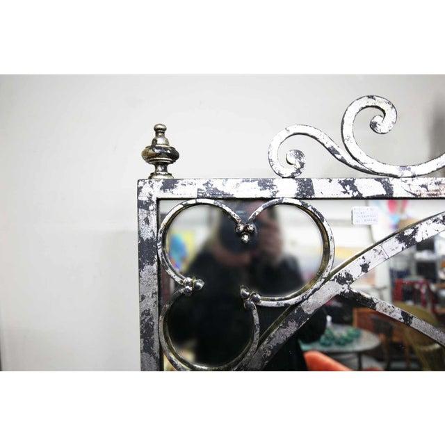 Mirror - Silvertone Arched Mirror - Image 3 of 4